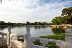 Lago Houhai, Pechino, Cina Immagini Stock Libere da Diritti