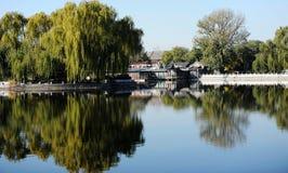 Lago Houhai, Pekín Imagen de archivo libre de regalías