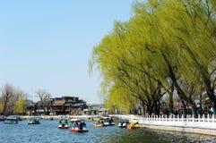 Lago Houhai, Pequim Imagem de Stock Royalty Free