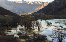 Lago in Huanglong Fotografie Stock Libere da Diritti
