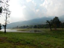 Lago Huay Tueng Tao in Chiang Mai Fotografia Stock