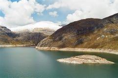 Lago Huayhuash, Perú Foto de archivo