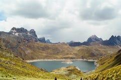 Lago Huayhuash, Peru imagens de stock