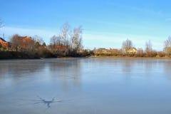 Lago ice Immagine Stock