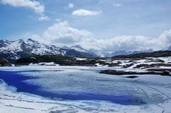 Lago ice Imagens de Stock