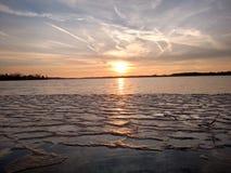 Lago ice em Michigan puro Fotografia de Stock