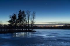 Lago ice en Suecia Escandinavia Europa Fotos de archivo