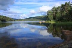 Lago idílico em Noruega Foto de Stock