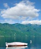 Lago idílico Orta, Piedmont, Itália Imagem de Stock Royalty Free
