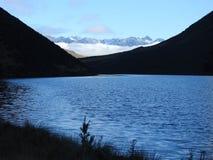 Lago IDA e le alpi immagine stock libera da diritti
