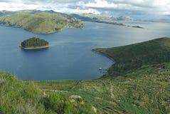 Lago, il Perù & la Bolivia Titicaca Fotografia Stock