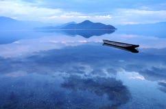 Lago il Yunnan Cina Lugu Immagini Stock Libere da Diritti