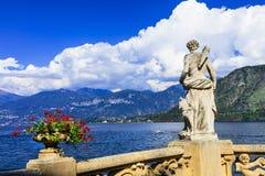 Lago ilustrado di Como fotos de archivo