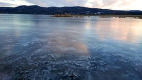 Lago incrível do gelo Fotografia de Stock Royalty Free