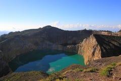 Lago Indonésia Kelimutu Fotografia de Stock