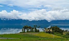 Lago Indonesia Maninjau Fotografia Stock Libera da Diritti