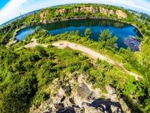 Lago industriale Fotografie Stock Libere da Diritti