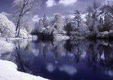 Lago infravermelho foto de stock