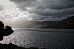 Lago inhospitalario Duich imagen de archivo