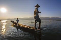 Lago Inle Fotografia Stock