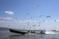 Lago Inle - lo Stato Shan - Myanmar Fotografia Stock
