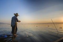 Lago Inle, Myanmar. Fotografie Stock