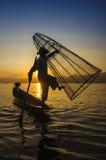 Lago Inle, Myanmar. Fotografia Stock Libera da Diritti