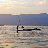 Lago Inle in Shan State, Myanmar Fotografie Stock