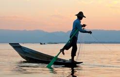 Lago Inle in Shan State, Myanmar Immagini Stock Libere da Diritti