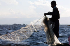 Lago Inle in Shan State, Myanmar Fotografia Stock Libera da Diritti