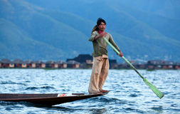 Lago Inle in Shan State, Myanmar Immagine Stock