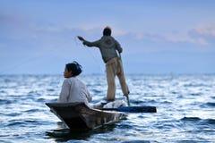 Lago Inle in Shan State, Myanmar Fotografie Stock Libere da Diritti