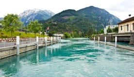 Lago Interlaken Fotografie Stock Libere da Diritti