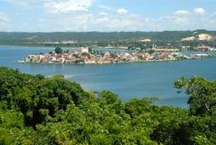 Lago intorno a Flores Guatemala America Centrale fotografie stock