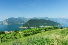Lago Iseo a Brescia, Italia Immagini Stock Libere da Diritti