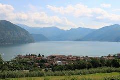 Lago Iseo, Italia fotografie stock