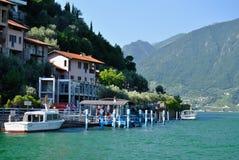 Lago Iseo, Italia fotos de archivo