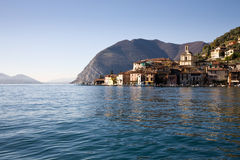 Lago Iseo, Italia Fotografie Stock Libere da Diritti