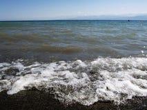 Lago Issyk-kul fotografie stock