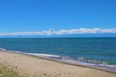 Lago Issyk-Kul mountain Fotografie Stock Libere da Diritti