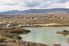 Lago Issyk Kul nel Kirghizistan Immagini Stock