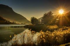Lago Italia Endine Fotografia Stock Libera da Diritti