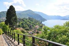 Lago italiano famoso Como fotografie stock