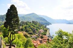 Lago italiano famoso Como fotografie stock libere da diritti