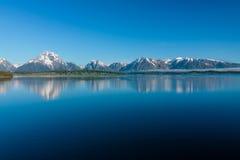 Lago Jackson nel Wyoming Immagini Stock Libere da Diritti