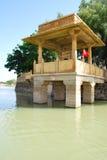 Lago Jaisalmer Gadsisar Fotografia Stock Libera da Diritti
