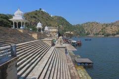Lago Jaisamand, rajasthan, Índia foto de stock