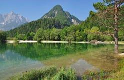 Lago Jasna, Kranjska Gora, alpi di Julian, Slovenia Fotografie Stock