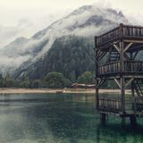 Lago Jasna Slovenia Immagini Stock Libere da Diritti