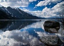 Lago jenny en el parque nacional magnífico de Teton Imagen de archivo